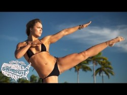 Ronda Rousey Uncovered: Sports Illustrated Swimsuit 2015 BTS bikini shoot video