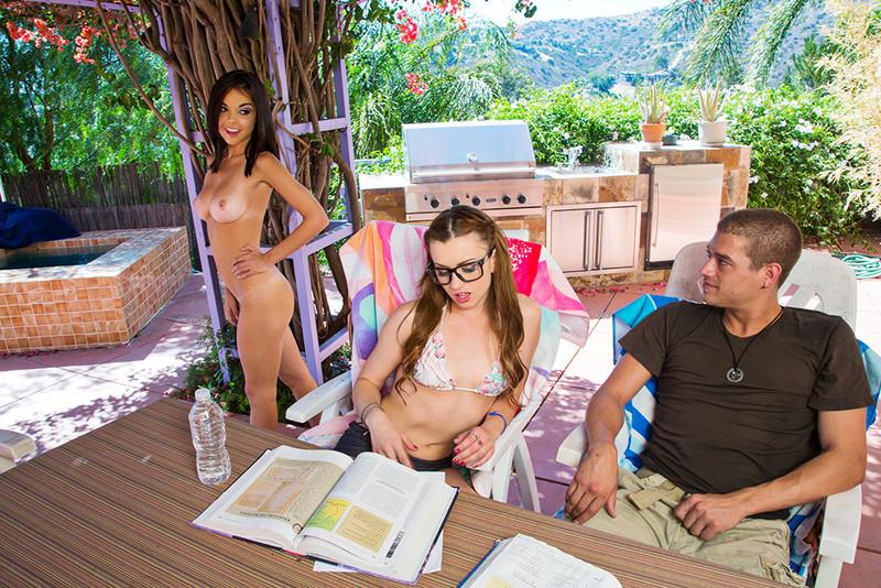 Dillion Harper naked & Lexi Belle in bikini   2 Chicks Same Time