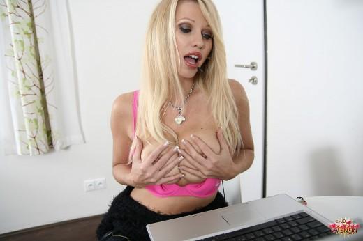 horny secretary Nikita Valentin