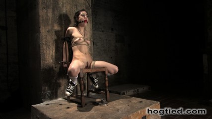 Sasha Grey hogtied