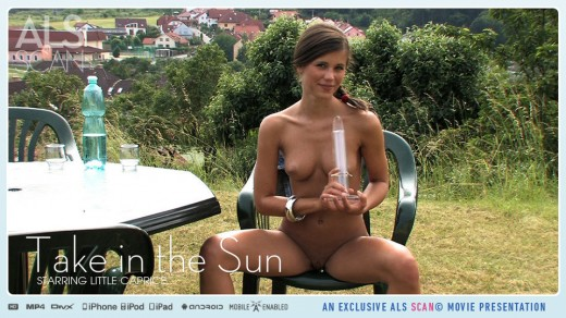 Little Caprice naked in garden | ALS Scan