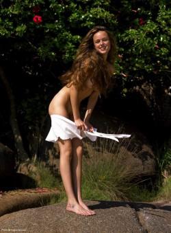 Gislane naked in nature | Hegre Art