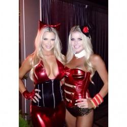 Halloween babes Carly Lauren & Jessa Hinton