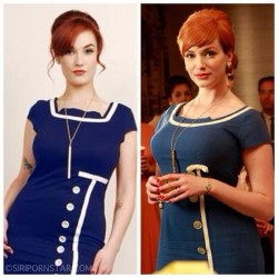 cosplay by Siri as Christina Hendricks character Joan Holloway in Mad Men