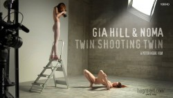 naked twin sisters Gia Hill & Noma | Hegre Art