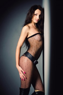 MFC Kate Nixon in fishnet bodystocking