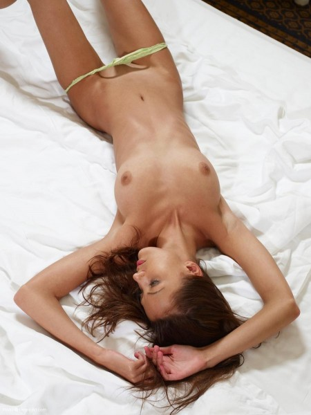 topless Anna S in bed | Hegre Art