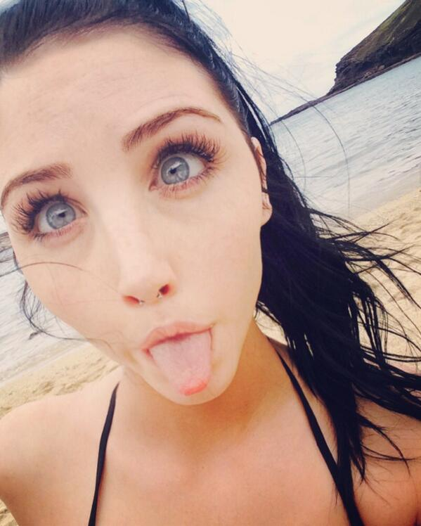 MFC Zoella sticking out her tongue