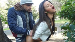 Alicia Poz fucked in public park by Moisex | CumLouder