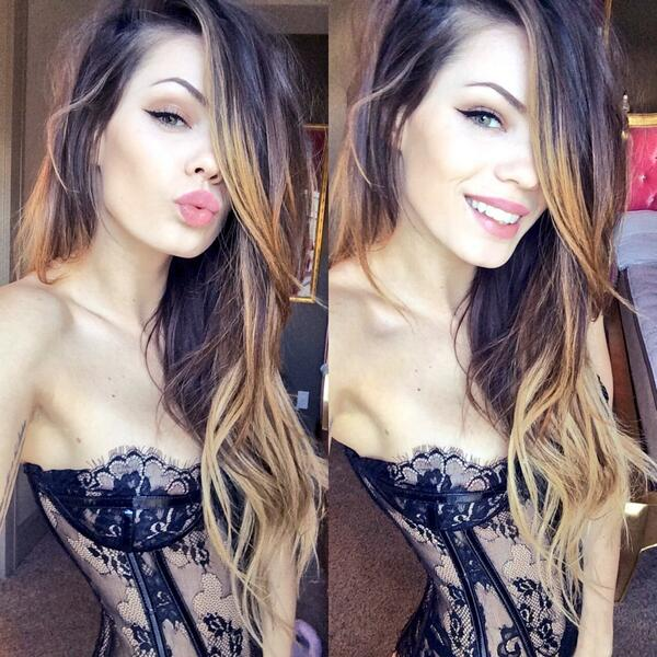 sexy MFC Brina_ with hair in her face & wearing hot lace lingerie