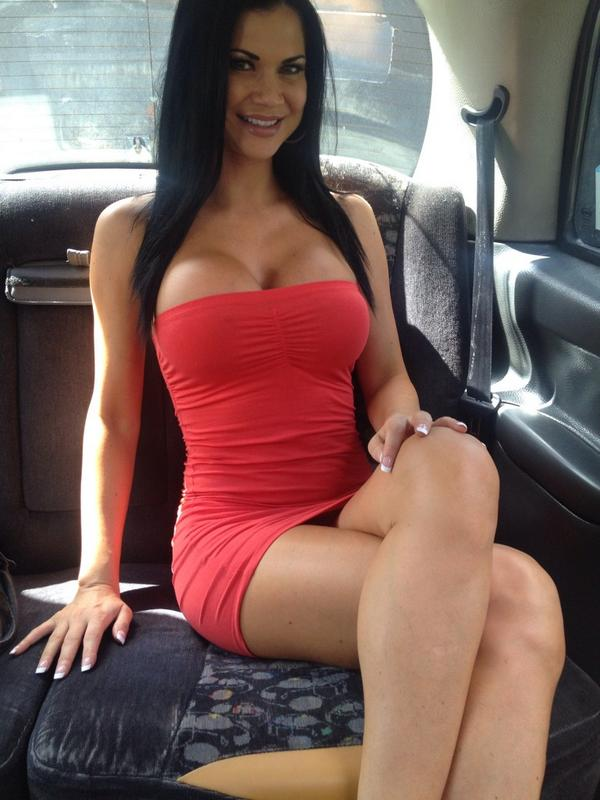 Jasmine Jae in sexy red dress | Fake Taxi