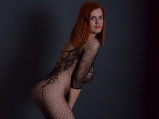 alexsisfaye in fishnet bodystocking