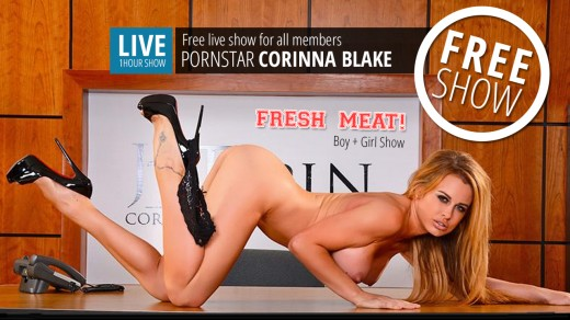 Corinna Blake & Brick Danger live sex show Fresh Meat!   Webcams
