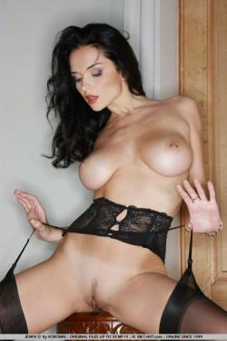 Jenya D naked in stockings | Met Art