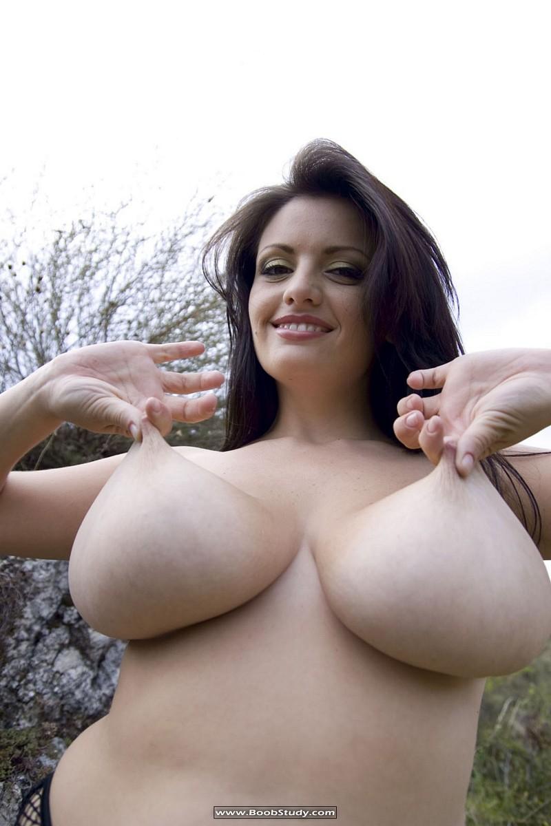 Arianna Sinn pinching her nipples | Boob Study