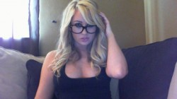Whitney Danielle with glasses