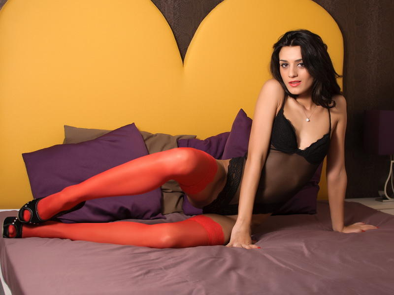 GiannaRicci from MyFreeCams wearing bodysuit & stockings