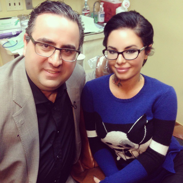 Christy Mack with glasses