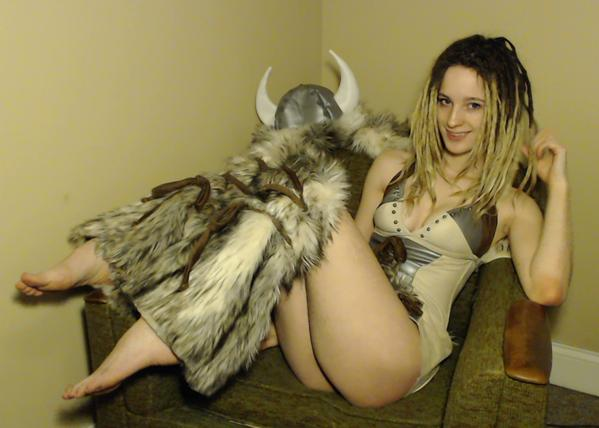 MFC DabbyLala as Viking warrior girl