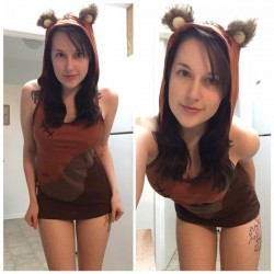 Chaturbate model _spencer dressed up as sexy Ewok