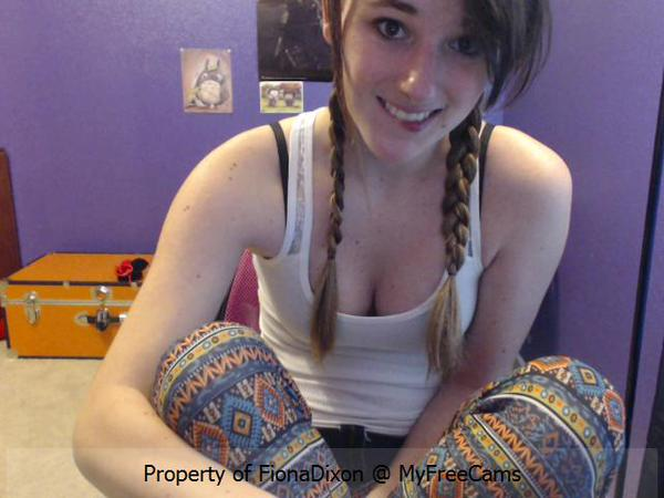 FionaDixon from MyFreeCams with braided pigtails
