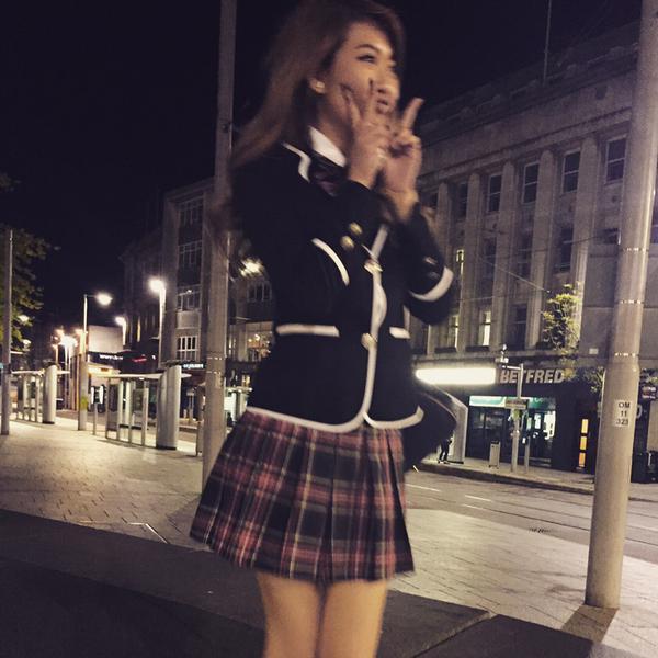 MFC camgirl TheOneBebe in schoolgirl uniform