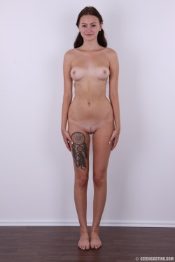 Zuzana (9514) naked with tan lines | CzechCasting