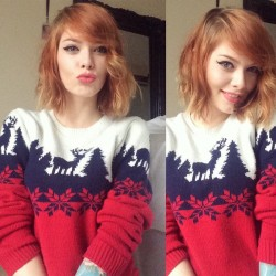 Francesca Louise in Christmas sweater