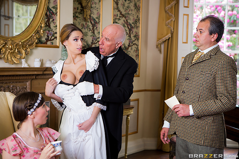 maid Erica Fontes topless in Downton Abby porn spoof | Brazzers BabyGotBoobs