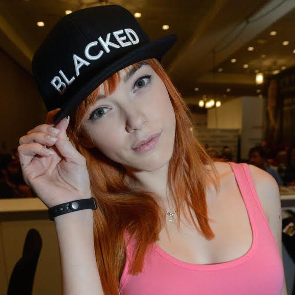 Anny Aurora with Blacked baseball cap
