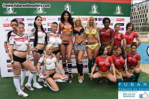 topless bodypainted World Cup football models | Visit X