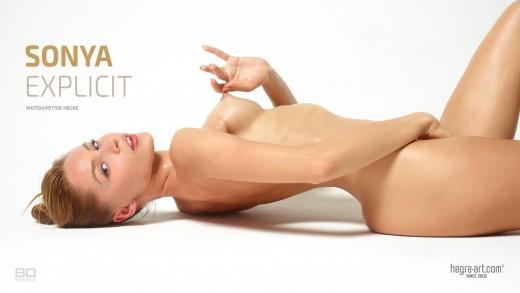 Sonya pulling her nipple | Hegre Art