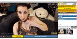 Streamate camgirl AmberLily dressed as Princess Leia in her slave girl outfit