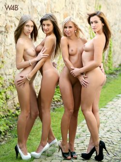 4 Watch4Beauty models nude in heels