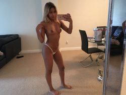 Cassandra Bellatakes topless selfie