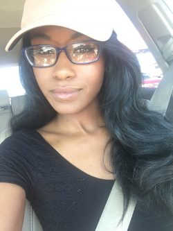 Jezabel Vessir‏ wearing glasses
