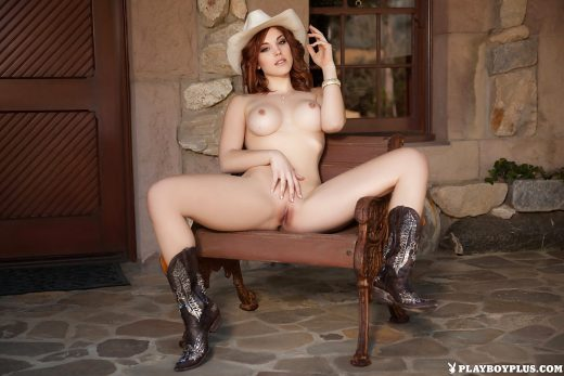 Miss Molly Stewart poses nude in cowboy boots | Playboy