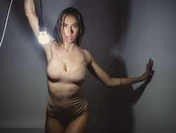 AnniaMiller in wet leotard