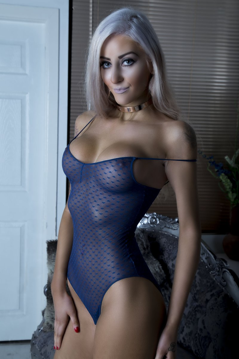 Tamsin Louise in sheer bodysuit