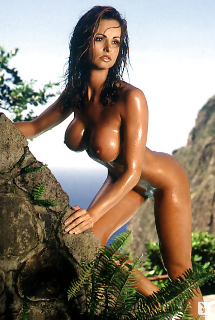 wet Playboy Playmate & Donald Trump mistress Karen McDougal posing naked