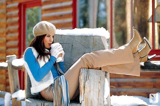 Pennelope Jimenez in snow | Playboy