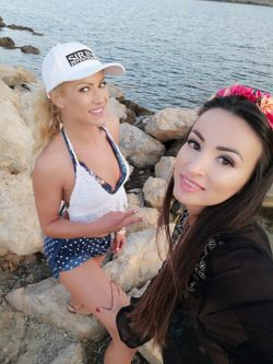 selfie by Alyssia Kent with Cherry Kiss by the sea