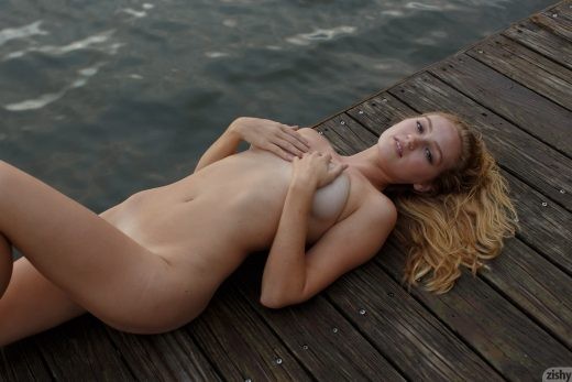 Ellen Kennedy naked on boat dock | Zishy
