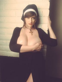 Lana Kendrick in nun costume