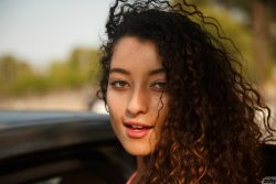 latina Lana Lovelace with curly hair | Zishy
