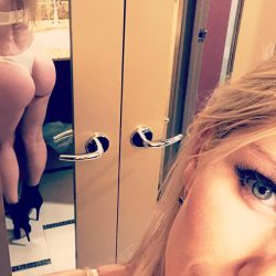 Ashley Fires takes a thong selfie