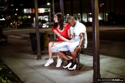 Emily Willis gives public handjob to BBC | BlackedRaw