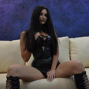 Brianna_Sky from MyFreeCams in black leather outfit