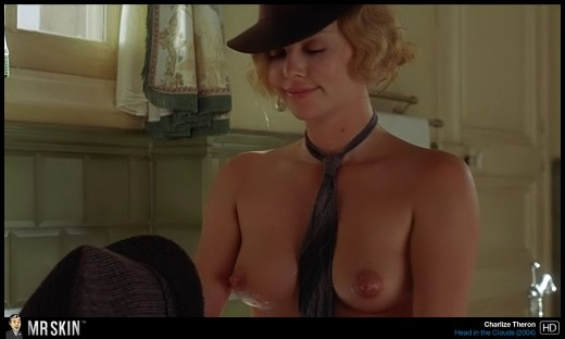 Charlize Theron with wet naked boobs