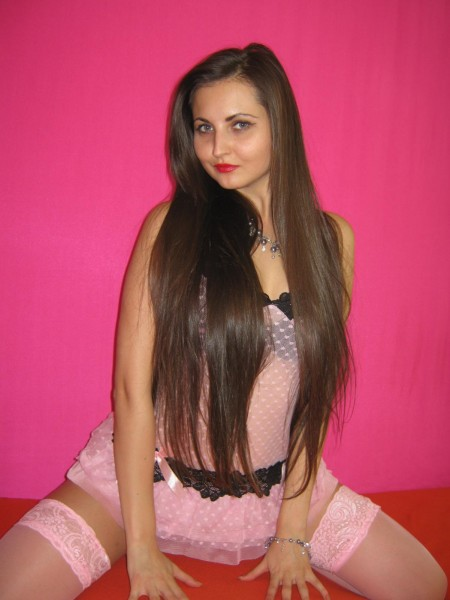 Seamaid from Webcams wearing pink lingerie & stockings